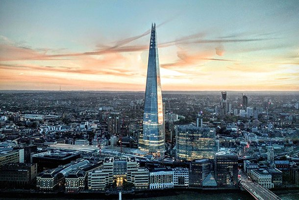London skyline with the Shard