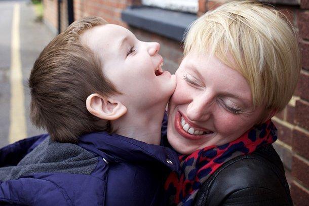 mum hugs autistic son case study video