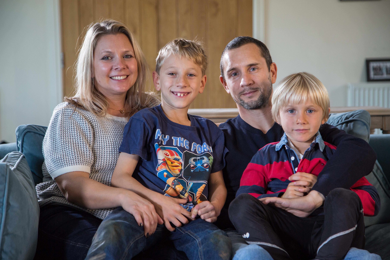 Family of cancer survivor