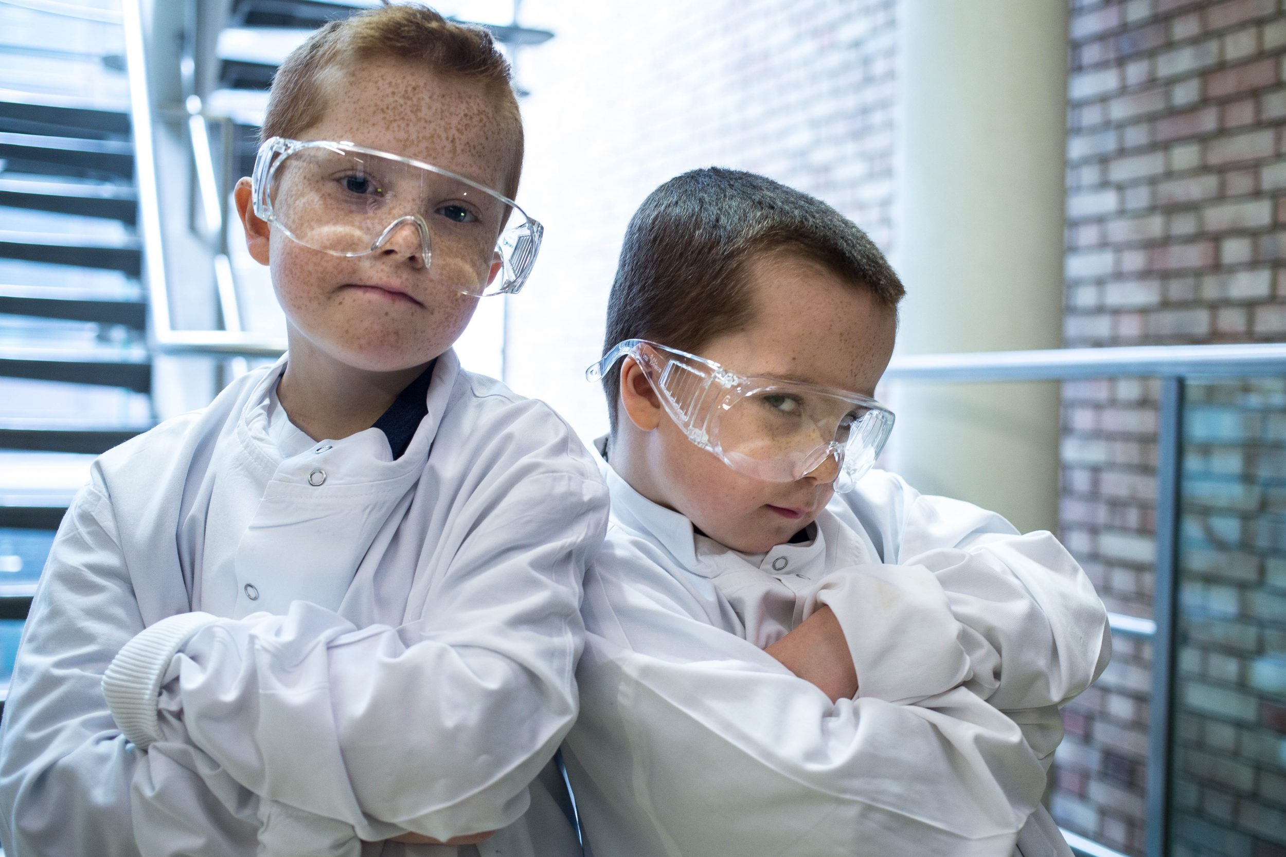 kids dressed as scientists