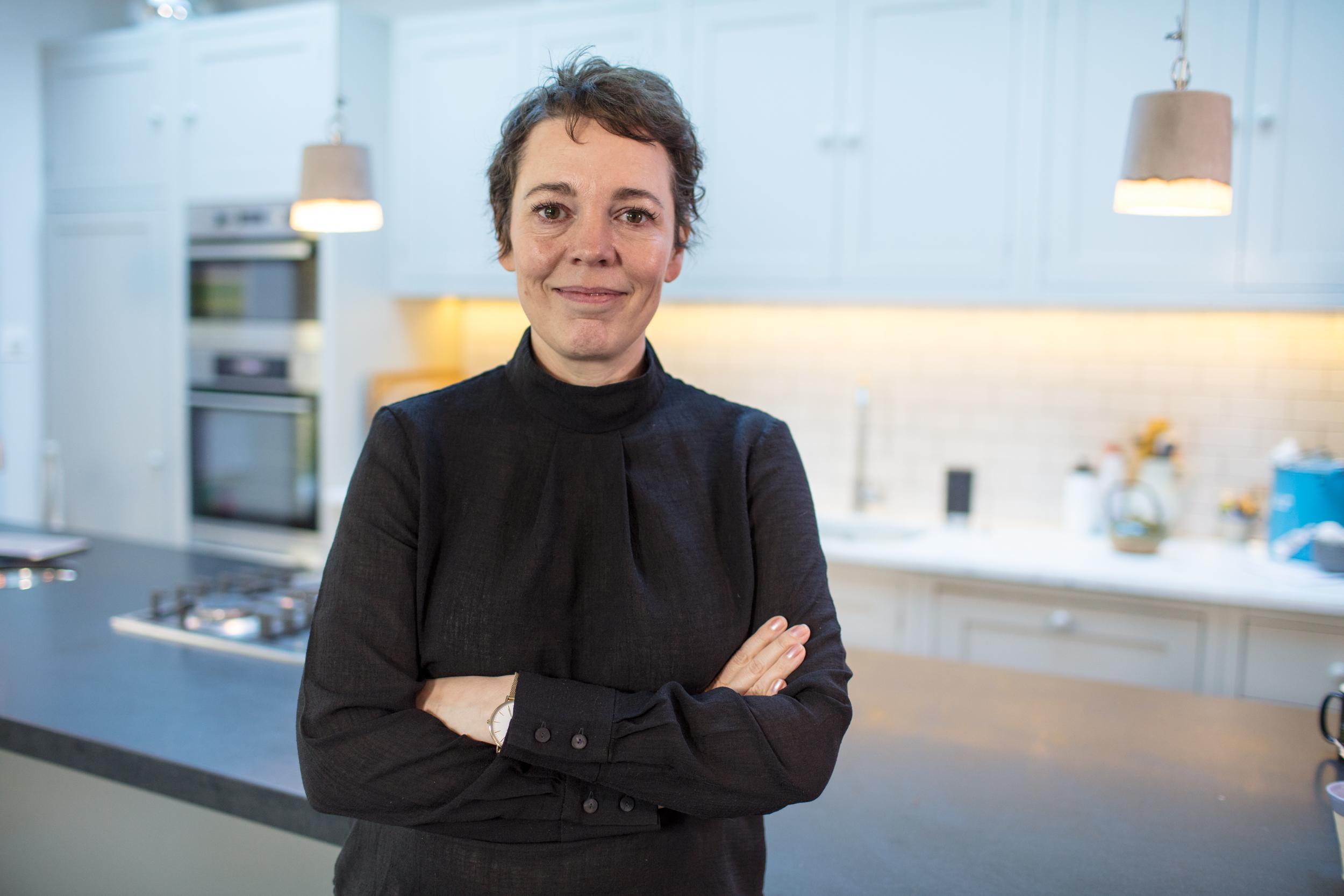 Olivia Colman in her kitchen