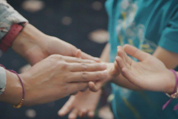 close up hands