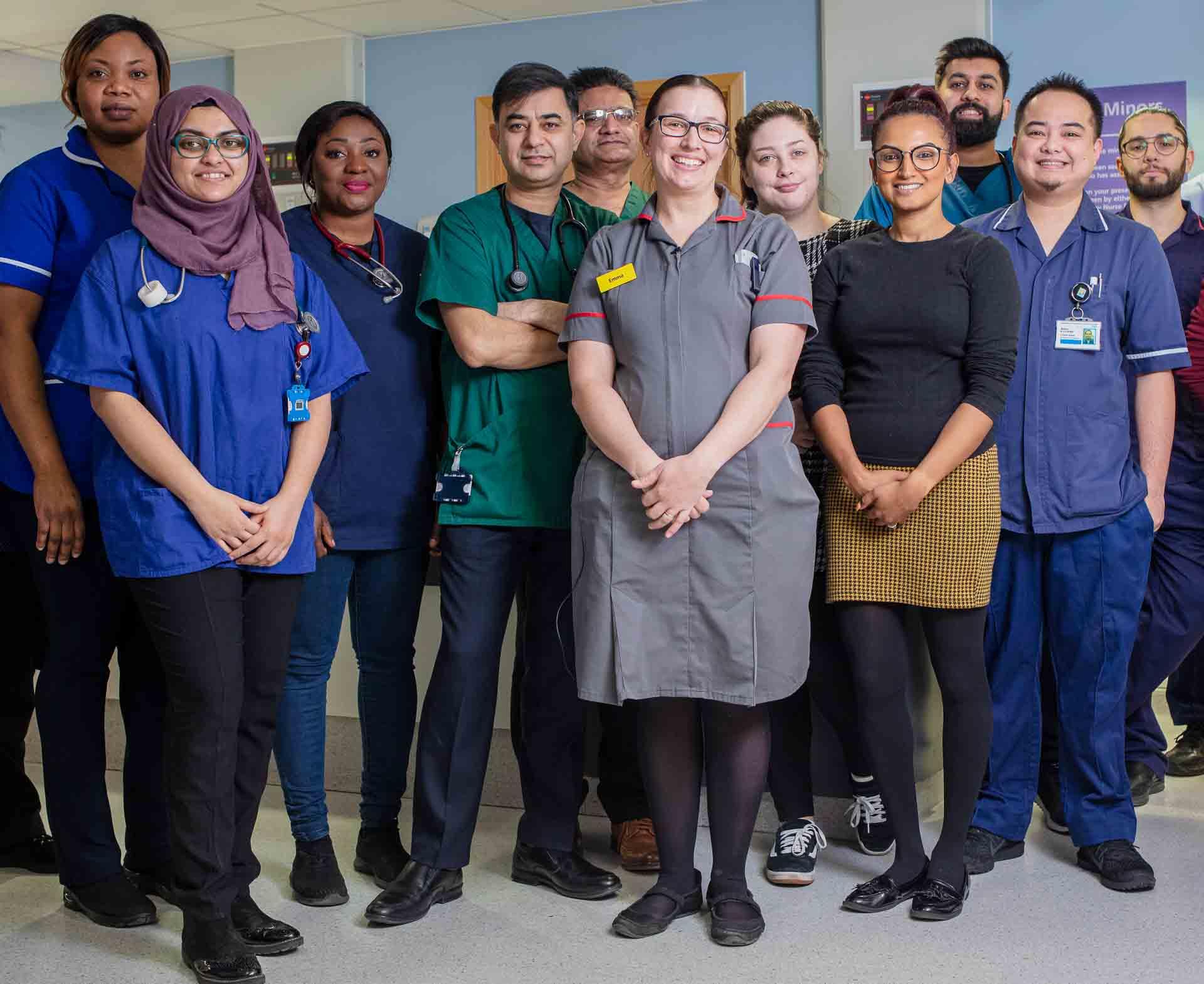 NHS video group shot